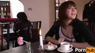 Shitsuji Aibu Kissa Dai1sho Part 1 - Scene 1 Busty brunette