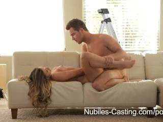Nubiles Casting – Will this young teen firecracker make it in porn?