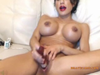 big boobs girl with dildos from bravecams.com