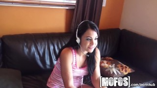 Mofos - Gamer girl Celina Santiago sucks dick