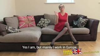 FakeAgentUK Creampie for hot european girl that loves rimming Cock sucking