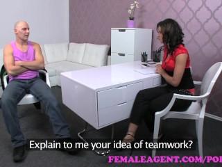 FemaleAgent. Impressive cumshot all over agents ebautiful breasts