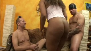 Preview 3 of Big White Dicks Fucking Big Chocolate Tits 2 - Scene 3