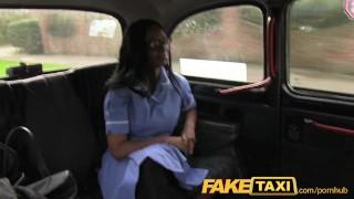 FakeTaxi Sexy nurse wearing no knickers wants cock porno