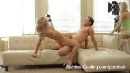 Nubiles Casting - Will a mouthful of cum get her the job?