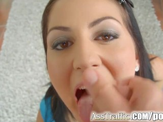 AssTraffic 18 year old anal gaping and cum swallowing