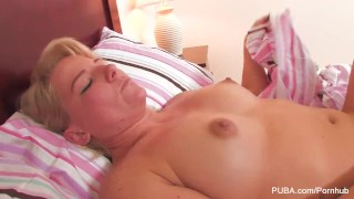 Blonde babe gets fucked hard