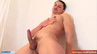 Hot cock in a shower ! Gay hunk