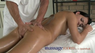Massage Rooms Cute young girls with small tits have oily G spot orgasms