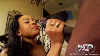WCPClub Ebony Busty and Juicy Booty Babe fucked by BBC  cum on tits big tits piercings big cock black blowjob cumshot young teens pornstars tattoos doggystyle ebony teen carwash wcpclub