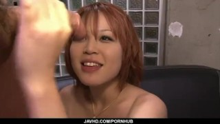 Filthy redhead Asian babe showing off her sexy ass and big tits  redhead mother tit squeezing javhd mom sexy lingerie high heels busty hot milf