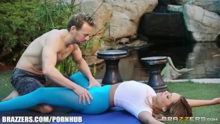 Sexy yoga with Mia Malkova - Brazzers Eating big