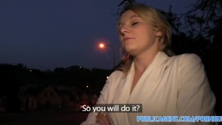 Preview 2 of PublicAgent Short haired blonde has sex to win a competition