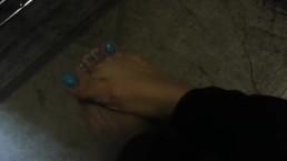 sweaty work feet