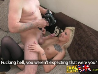 FakeAgentUK Agent finds silent sex with petite blonde very erotic