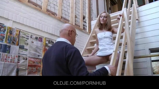 Teens fucked by older men - Bald older man eats natalys young tasty pussy