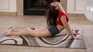 Petite yoga cutie gets the fuck of her life Yoga tits