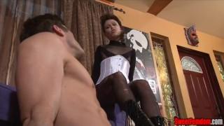 Bailey Paige in femdom ballbusting scene  sissy kink kinky sweetfemdom ballbusting emasculation panties cbt femdom