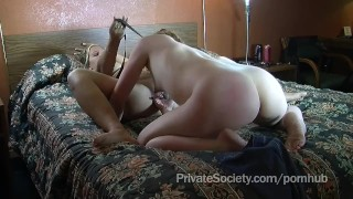 Full swingers of motel a room tits head