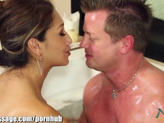 Nuru Massage Asian Banged after Blowjob in the Bath