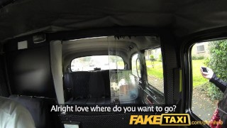 FakeTaxi. Blonde bombshell with great tits gets beautiful creampie in taxi