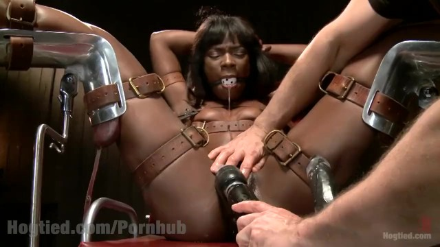 Gorgeous Ebony Model Hogtied - Pornhubcom-4994