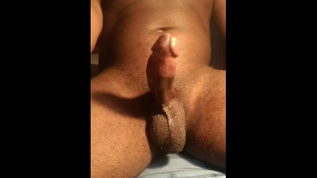 Stroking Cock Watching Porn