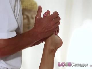 Preview 3 of Love Creampie Big tits babe gets filled with spunk on the massage table