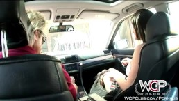 WCP Club Horny Nikki takes a ride on a fat black one
