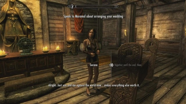 Cartoon sex rpg Skyrim - sex with serana