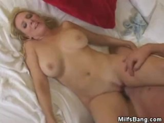 Busty Blonde Milf Fucked And Jizzed On
