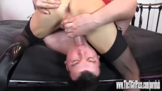 Femdom helps two horny crossdressers to suck big cock and spunk  big cock tranny spunk crossdresser femdom blowjob amateur cumshot cum toys tgirl 69 sissy hardcore sex toys thetgirlpass