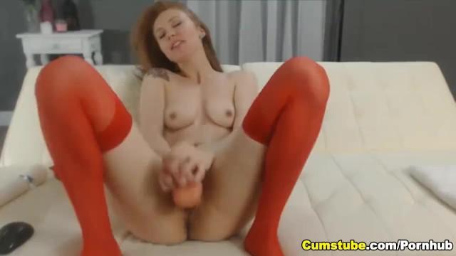 Coed redhead Beautiful coed redhead masturbating