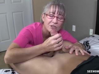 Moms peeing on toilet