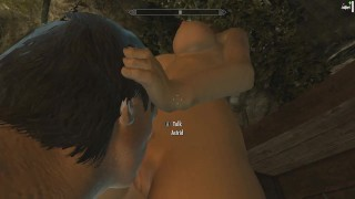 Skyrim: Sex With Astrid (Testing Her Loyalty To Her Husband) Doggy milf