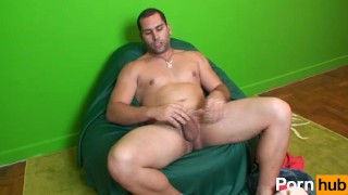 Scene straight jerking off guys  big solo