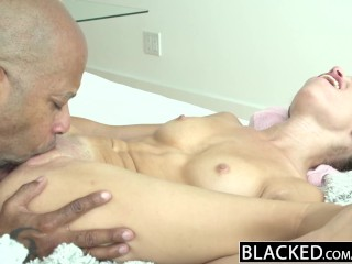 BLACKED Brunette Teen Takes Monster Black Cock