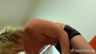 Blonde Straight Shane Masturbating
