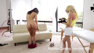 Preview 2 of Nubiles Casting - 18 yr old cutie desperate to be a pornstar