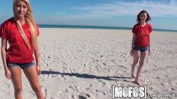 Mofos - Sexy beach babes strip
