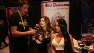 PornhubTV Alison Moore and Nikki Delano Interview at eXXXotica 2014 porno
