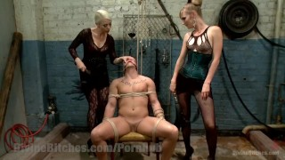 Revenge of the Femdoms  tied tease bdsm punish femdom goddess blonde tattoo fetish domination divinebitches bound kinky domme natural-tits bondage beg