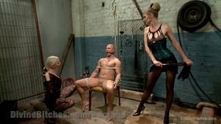 Revenge of the Femdoms tied domination femdom divinebitches beg goddess bound blonde kinky domme tease tattoo bdsm bondage punish natural tits fetish