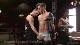 Bi Hunk Gets First Edging