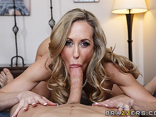 Brandi gives blow and footjob in pantyhose 5