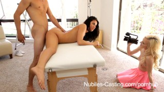 Nubiles Casting - Flexible fuck bunny really wants this job
