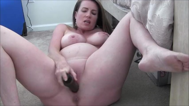 Mommas big tits make her pregnant - Horny pregnant milf masturbates and encourages you to jerk off for her