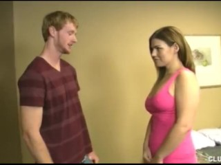 Big-Titted Teen Jerks Off A Big Cock
