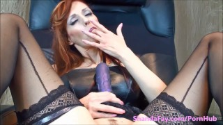 PEG ME SHANADFAY!! Canada's Dirtiest MILF dildo toys femdom milf shandafay canadian jerking big tits mom strap on femdom mother strap on amateur wife red head milking