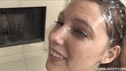 Facial Explosion For The Cute Teen